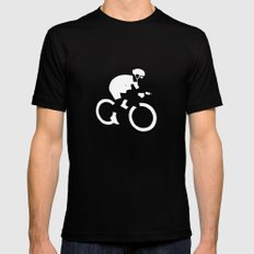 Cyclist Mens Fitted Tee Black SMALL