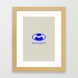 BUTTMAN Framed Art Print