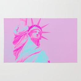 Magenta Pop-Art Statue of Liberty Rug
