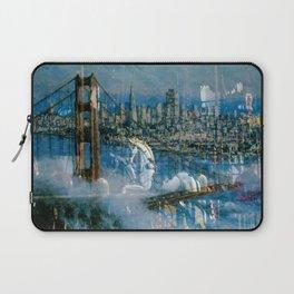 Window Reflection 002 (Horses/Golden Gate) Laptop Sleeve