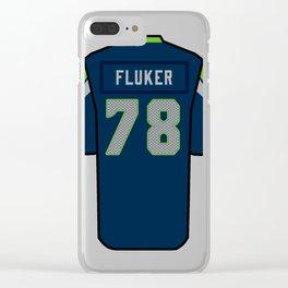 D.J. Fluker Jersey Clear iPhone Case