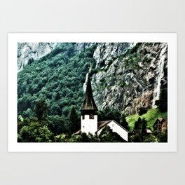 Surrounded by Mountains Art Print