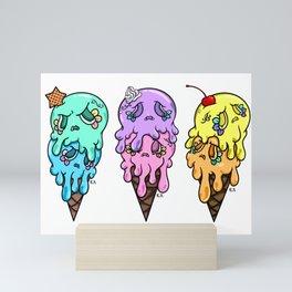 Trio of double scoop | Series 2 Mini Art Print