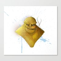 the thing Canvas Prints featuring Thing by Kingdom Art