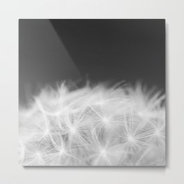 Dandelion Blowball Closeup Black and White #decor #society6 #buyart Metal Print