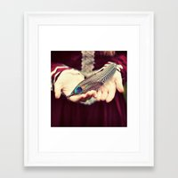 feather Framed Art Prints featuring feather by elle moss