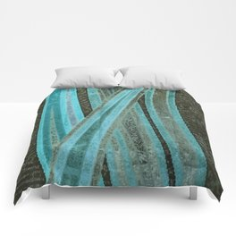 No Exit Abstract Design Comforters