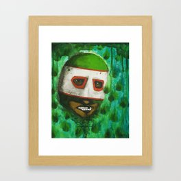 Lucha Libre-green arrow Framed Art Print