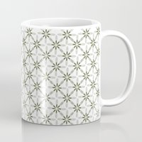 flower pattern Mugs featuring Flower pattern by Yasmina Baggili