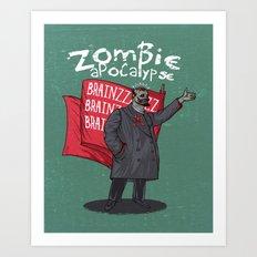 Zombie Lenin Art Print