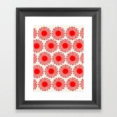 vintage flowers red Framed Art Print
