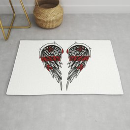 Georgian wings art Rug