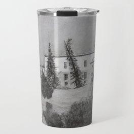 Hanging houses (charcoal) Travel Mug
