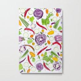 Vegetables pattern (5) Metal Print