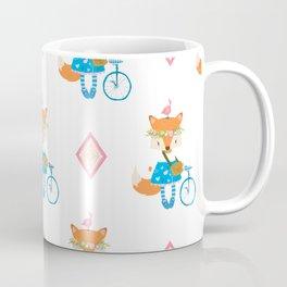 Girl Fox with Pink Diamond Coffee Mug
