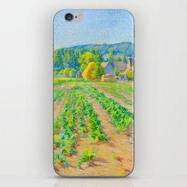 Václav Radimský (1867-1946) Cabbage Fields near Vernon Modern Impressionist Oil Painting Colorful iPhone Skin