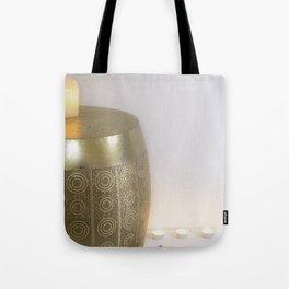 Velas y decoración hindu minimalista Tote Bag