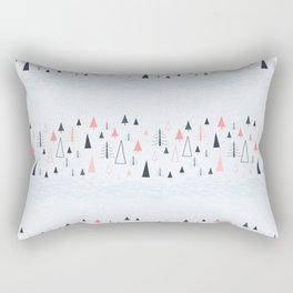 Abstract Winter Landscape Pattern Rectangular Pillow