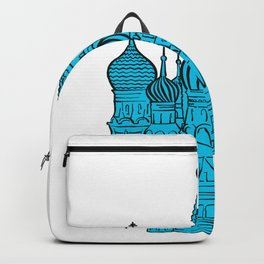Moscow Kremlin illustration with colored backplate. Backpack