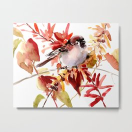 Bird and The Fall Metal Print