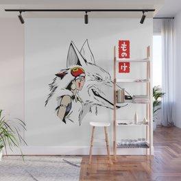 Princess Mononoke Wolf Wall Mural