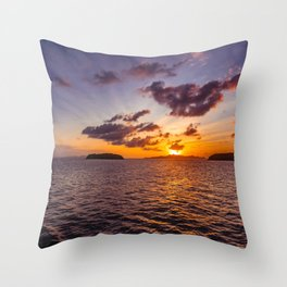 Seascape and Sunset Throw Pillow