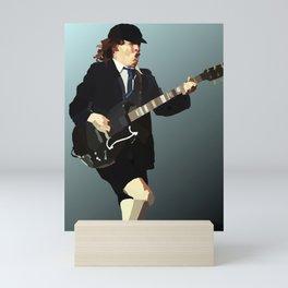 Low Polygon Portrait of Angus Young Mini Art Print