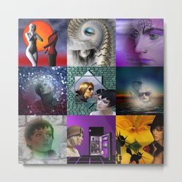 collage fashiondolls -03- Metal Print