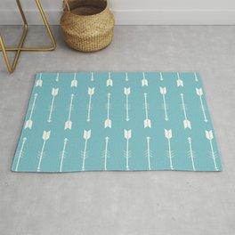 Pastel Blue & White Arrows  Rug
