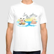 Les Petits - I'm The Walrus White Mens Fitted Tee MEDIUM