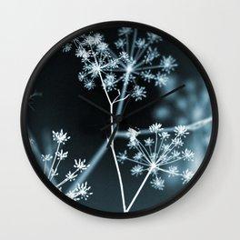 Dark Floral. Midnight Glow Wall Clock