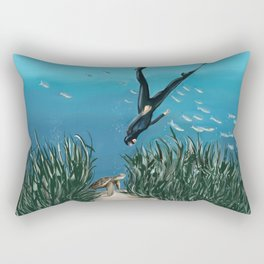 Turtle Encounters Rectangular Pillow