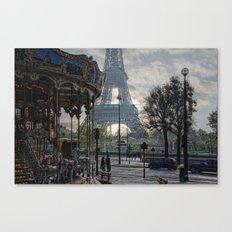 manège parisienne Canvas Print