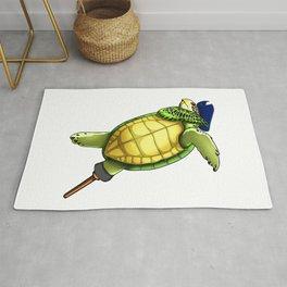 Pirate Sea Turtle Dab Viking Novelty Halloween Rug