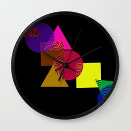 Geometric love Wall Clock