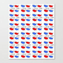 I love USA 3- america,us,united states,american,new york,hollywoord,spangled,banner,star and strips Canvas Print