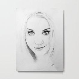 Kaley Cuoco Pencil Portrait. Metal Print