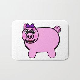 Girly Stuffed Pig Bath Mat