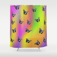 butterflies Shower Curtains featuring Butterflies by Fine Art by Rina