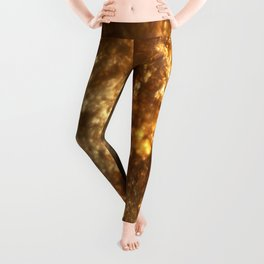 Fractal Art - Gold mine Leggings