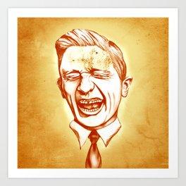 Mr Smiley Art Print