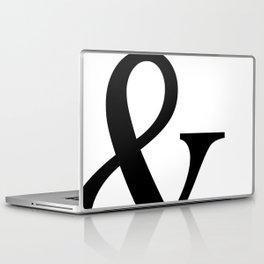 Typography, Ampersand, And Sign Laptop & iPad Skin