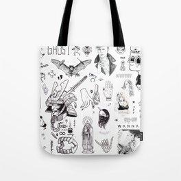 B&W Flash Tote Bag