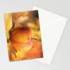 Apple in Fall Stationery Cards