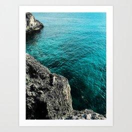 Cliffs Of Negril Jamaica Art Print