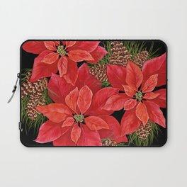 Christmas Poinsettia Laptop Sleeve