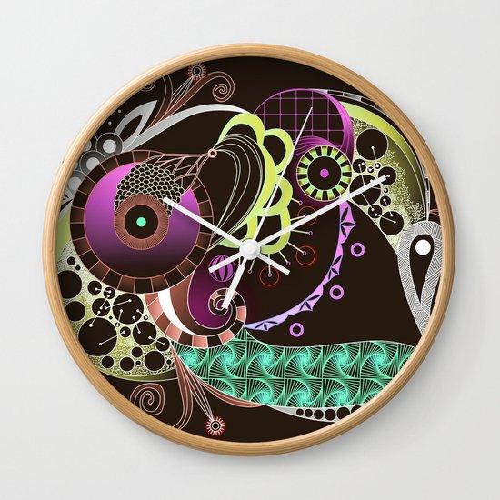 Autumn tangle night Wall Clock