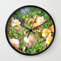 thanksgiving Wall Clocks featuring Faded Thanksgiving  by BananatheNana