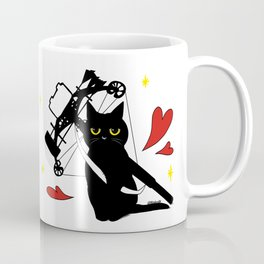 Black Cat with crossbow Coffee Mug