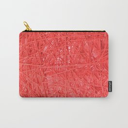 Hilo Rojo. Fashion Textures Carry-All Pouch